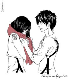 "I just ""like"" Eren because of Mikasa. I mean, I don't like but she would be pissed so. I like him because she likes him Attack on Titan: Eren is back. by Daniimon Attack On Titan Season, Attack On Titan Fanart, Attack On Titan Eren, Attack On Titan Ships, Mikasa X Eren, Eremika, Anime Angel, Manga Games, Anime Ships"
