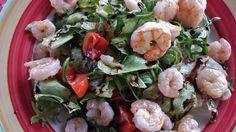 Ensalada Tibia de camarones Deliciosa y ligera