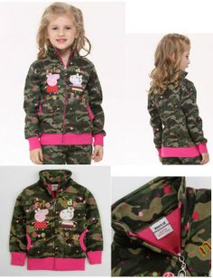 Children Clothes | Peppa Pig Camo Jacket. Very affordable. Click for more  #children #clothes #peppapig #camo #jacket #kidsclothes #affordable