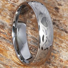 wedding rings couple Claddagh Wedding Band Also Available Tungsten Mens Claddagh Ring, Celtic Knot Ring, Celtic Rings, Claddagh Rings, Irish Wedding Rings, Wedding Ring For Him, Irish Rings, Wedding Bands, Promise Rings For Guys