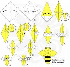 Bijen vouwen / abeja