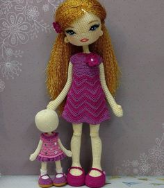 Best 12 Aelita Surmachevskaya's photos Crochet Dolls Free Patterns, Crochet Doll Pattern, Mother And Daughter Drawing, Crochet Baby, Knit Crochet, Diy Doll, Amigurumi Doll, Crochet Projects, Arts And Crafts