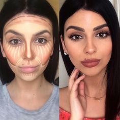 Best Natural Beauty Products At Whole Foods Contouring using Anastasia Beverly Hills Cream Contour Kit in Medium Diy Beauty Makeup, Beauty Make-up, Love Makeup, Makeup Inspo, Makeup Inspiration, Makeup Tips, Beauty Hacks, Natural Beauty, Makeup Goals