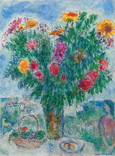 Marc Chagall, Le Grand Bouquet - 1978 on ArtStack #marc-chagall #art