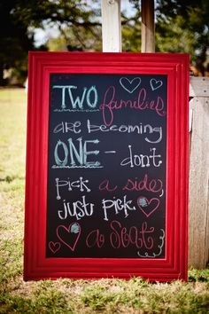 Love my chalk board!