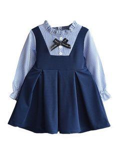 Kids Outfits Girls, Toddler Girl Dresses, Girl Outfits, Girls Dresses, Toddler Girls, Toddler Outfits, Toddler Fashion, Kids Fashion, Long Sleeve Chiffon Dress