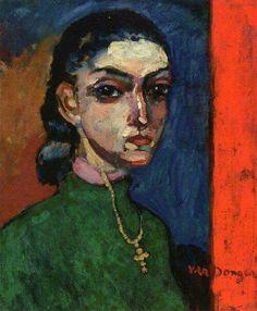 Mujer con crucifijo