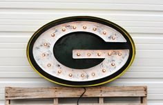 Packers Logo Replica 2 foot x 3 foot Metal by ElementalArthouse
