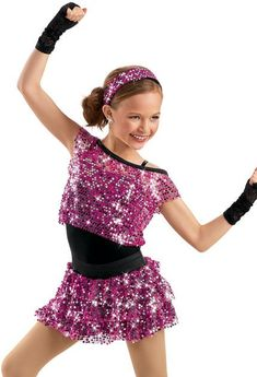 weissman dancewear  | Sequin Mesh Top and Skirt -Weissman Costumes | Dance Costume ideas