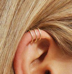 Triple Ear cuff  3 Ring Ear Cuff  Helix Ear Cuff  Triple
