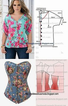 faldas y blusas de verano con patrones simples - Artesanía