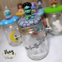 Monster Party, Baby Shower Parties, Babys, Birthdays, Birthday Parties, Bottle, Decorated Jars, Monsters, Bottles