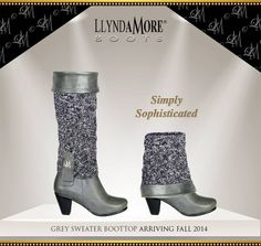 I just ordered myself a set of these Boots and BootTops...I can't wait for them to get here!  Get 30 styles with just one Boot and BootTop!!  I love my Llynda More Boots!!
