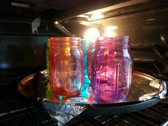 Colored Mason Jar Tutorial