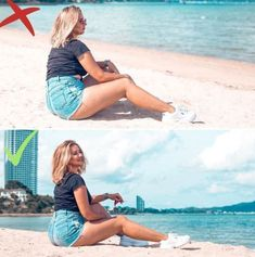 Posing is an art. Beach Photography Poses, Portrait Photography Poses, Beach Poses, Summer Photography, Family Photography, Children Photography, Best Photo Poses, Picture Poses, Picture Outfits