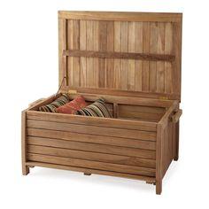 3 Ft Terrel Natural Teak Outdoor Storage Box