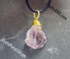 Genuine raw amethyst necklace rough amethyst pendant chakra stone healing necklace crystal healing necklace yoga necklace