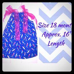 "Selling this ""Firecracker pillowcase dress"" in my Poshmark closet! My username is: kadence_kloset. #shopmycloset #poshmark #fashion #shopping #style #forsale #Kids Boutique  #Dresses & Skirts"