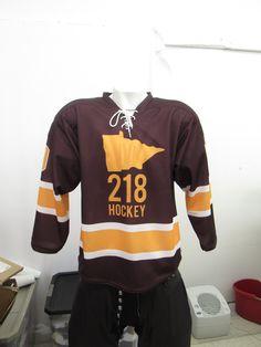 611bad080e8 Sublimated 218 Hockey jerseys. Proudly made in Minnesota. Minnesota