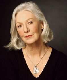 jane alexander; I like the casualness of her hair and the fact that she doesn't color it - takes courage!
