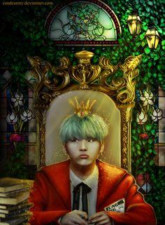 King Yoongi #Fanart #Suga #BTS