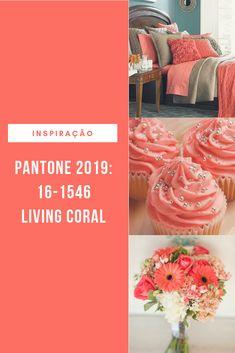 Coral Art, Coral And Gold, Coral Color, Rose Gold Room Decor, Rose Gold Rooms, Colorful Decor, Colorful Interiors, Coral Walls, Pantone 2020