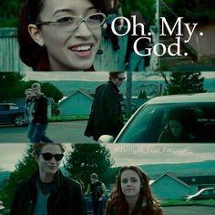 Twilight ~ Edward, Bella and Angela Twilight 2008, Twilight Edward, Twilight Cast, Twilight New Moon, Twilight Movie, Edward Bella, Edward Cullen, Rosalie Twilight, Twilight Saga Quotes