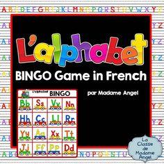 Alphabet Bingo Game in French!  L'alphabet en français!  $