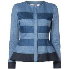 Designer Clothes, Shoes & Bags for Women Black Dress Jacket, Peplum Jacket, Amo Jeans, Denim Mantel, Denim Corset, Designer Jeans For Women, Denim Ideas, Denim Top, Blue Denim