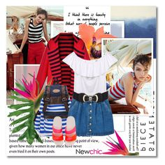"""""""Nautical, tropical - Newchic.com"""" by undici ❤ liked on Polyvore featuring Bluebellgray, Dorothy Perkins, MANGO, NIKE and summersandals"""