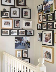 cuadros en escalera decoracion - Buscar con Google