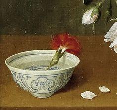 Pedro de Camprobín, vase of flowers, 1663 (detail) Flower Vases, Flower Pots, Paintings I Love, Carnations, Botanical Gardens, Art History, Sculpture Art, Conjoined Twins, Illustration Art