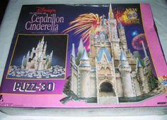 Wrebbit - Disney's Cinderella Castle - 530 Piece 3D Puzz - Jigsaw Puzzle NIB
