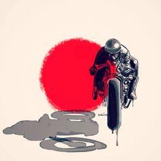 Ideas Red Cars Accessories Autos For 2019 Motorcycle Posters, Motorcycle Art, Bike Art, Art Moto, Bike Tattoos, Bike Illustration, Pinstriping, Street Bikes, Bike Design