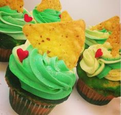 Mountain Dew Doritos Cupcakes