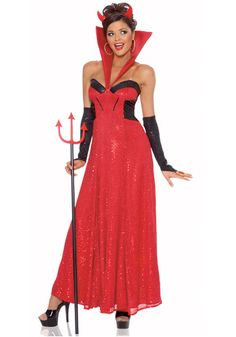 She Devil Costume Red Dress w/Stand Up CollarGloveletsHorn HeadpieceHeat up your next Halloween event in this women's She Devil costume! Look devili Marvel Halloween Costumes, Joker Costume, Devil Costume, Halloween Costume Accessories, Cool Costumes, Adult Costumes, Costumes For Women, Costume Ideas, Crazy Costumes