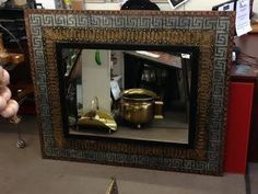 """Wow, we are THRILLED with these new mirrors in store. This mirror is 48"""" x 58"""":. $415 at Black Pearl Emporium"""