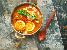 Egg Korma. Looks like a hearty winter soup worthy of a try.