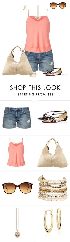 """Got Sandals?"" by ksims-1 ❤ liked on Polyvore featuring Current/Elliott, Christian Louboutin, Miss Selfridge, Gucci, Prada, Panacea, Thomas Sabo and Blue Nile"