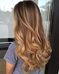 Honey Blonde Balayage Hair