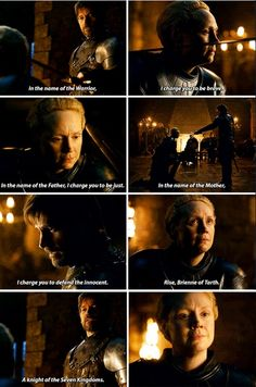 # braime # brienne von tarth # jaime lannister - Game Of Thrones // Games and Movies World // Welcome Brienne Von Tarth, Brienne Got, Lady Brienne, Jaime And Brienne, Jaime Lannister, Game Of Thrones Facts, Got Game Of Thrones, Game Of Thrones Quotes, Game Of Thrones Funny
