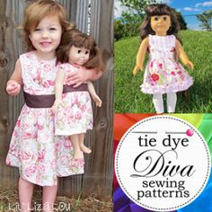 The Perfect Party Dress for 18 inch doll - fits American Girl | Sewing Pattern | YouCanMakeThis.com