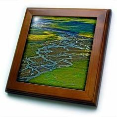 """Alaska, Katmai National Park, Stream - US02 JGI0201 - Jerry Ginsberg - 8x8 Framed Tile by 3dRose. $22.99. Inset high gloss 6"""" x 6"""" ceramic tile.. Solid wood frame. Keyhole in the back of frame allows for easy hanging.. Dimensions: 8"""" H x 8"""" W x 1/2"""" D. Cherry Finish. Alaska, Katmai National Park, Stream - US02 JGI0201 - Jerry Ginsberg Framed Tile is 8"""" x 8"""" with a 6"""" x 6"""" high gloss inset ceramic tile, surrounded by a solid wood frame with pre-drilled keyhole for easy wall mounting."""