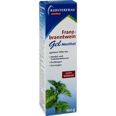 KLOSTERFRAU Franzbranntwein Gel:   Packungsinhalt: 100 g Gel PZN: 03265845 Hersteller: MCM KLOSTERFRAU Vertr. GmbH Preis: 4,19 EUR inkl.…
