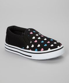 Take a look at this Black Heart Slip-On Sneaker by SYKE on #zulily today!