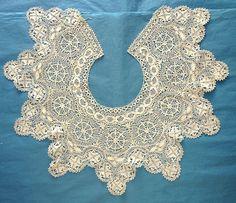 Antique Vintage Maltese Lace Collar Dress Front   eBay