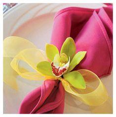 Un sencillo detalle para decorar servilletas.