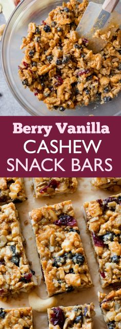 Wholesome grain free snack bars that are packed with whole, real foods. Dairy free, chewy, satisfying, and easy to make too! Recipe on sallysbakingaddiction.com