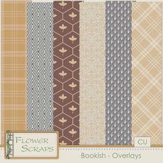 Bookish Overlays - $2.79 : Digital Scrapbooking Studio
