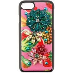Dolce & Gabbana tropical fruit embellished iPhone 6 case (9.400 CZK) ❤ liked on Polyvore featuring accessories, tech accessories and cell phone